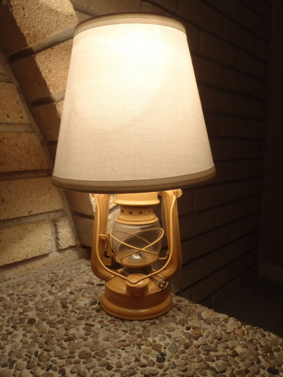 Yellow Railroad Camping Lantern Lamp with Shade by ...
