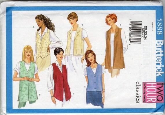 Easy Women's Vest Pattern - Size 20, 22, 24 Bust 42