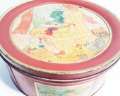 Vintage Rustic Sewing Storage Tin Container Can