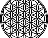 """8"""" Flower of Life Decal(Choose your color)"""