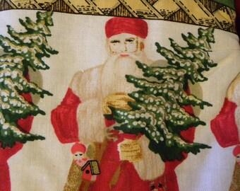 Oven Mitts, Santa, Victorian Santa Oven Mitts, Pot Holders