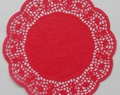 15 Red Paper doilies, 8.5 inch, Christmas, Valentine's Day