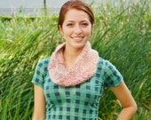 Thick Pink Infinity Scarf