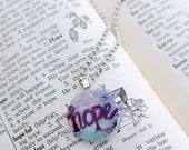 HOPE Mixed Media Art Print Necklace