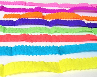 Crepe Paper Ribbons / Streamers, Craftsupply, Scrap Booking, Party Decorations & Gift Wrap