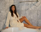 Organic Cotton Classic Bathrobe No Dye or Chemical used 100% Natural