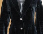 Black velvet Burberry blazer