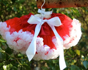 Infant Premium Pettiskirt by Posh Baby - Red and White