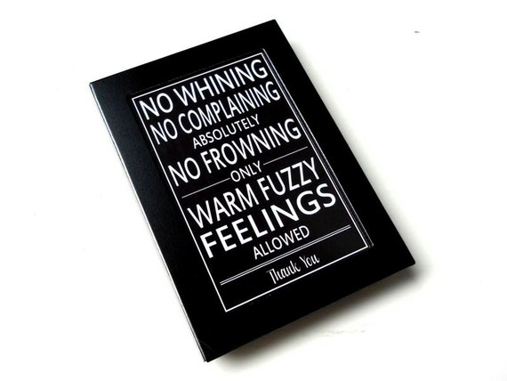 Funny Fridge Magnet with Framed Quote in Black and White