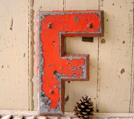 vintage industrial metal letters letter f sign letter other With vintage industrial metal sign letters