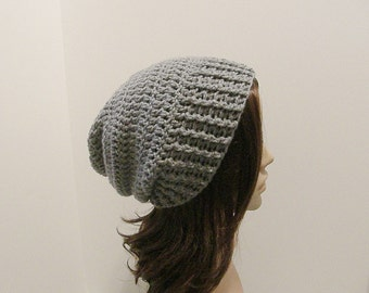 Everyday Slouch Hat - Silver Gray - made to order