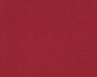 Christmas craft fabric / Itsy Bits Basics / red circles dots / Makower / patchwork quilting / fat quarter