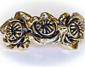 ROSE OF TEETH Double Knuckle Ring Size 7.5