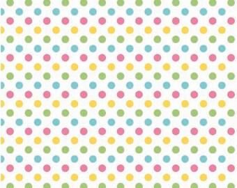 Small Dots Girl by Riley Blake Designs Half Yard Cut