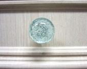 Bubble Glass Knob - Light Blue