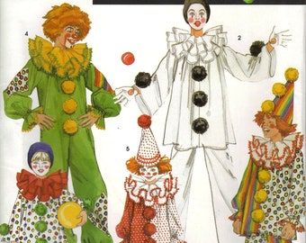 Simplicity Costume Sewing Pattern 9801 - Children's Clown Costumes (2-12)