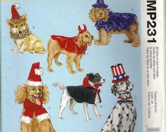 McCall's Costume Sewing Pattern MP231 (aka M4612) - Dog Costumes