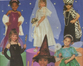 Simplicity Costume Sewing Pattern 8885 - Girl's Rock Star, Bride, Witch, Fairy Costumes (3-8)