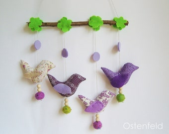 Colorful bird mobile - kids decor, baby mobile, nursery