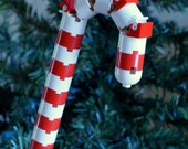 LEGO Candy Cane Christmas Ornament - ornaments4charity