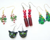 Holiday Christmas earrings for young and old