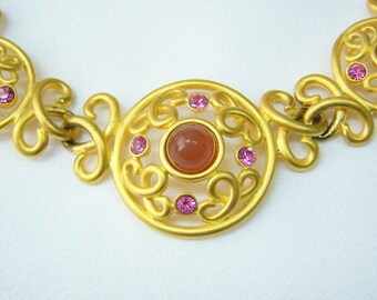 Jesara gold metal Celtic design style necklace