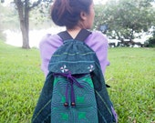 Lovely Green Tribal Vintage Hmong