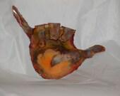 COPPER HANG LOOSE wall art: Copper wall art metal sculpture.