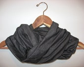 Soft INFINITY SCARF- Black/Gray