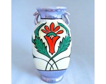 Art Deco Vase, antique, porcelain, Japanese Lusterware style