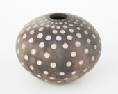 Spotted Ceramic Pot - Sawdust Fired