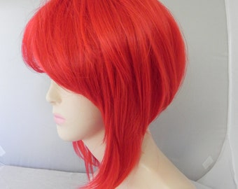 Cherry Pop / Red / Short Straight A Line Wig