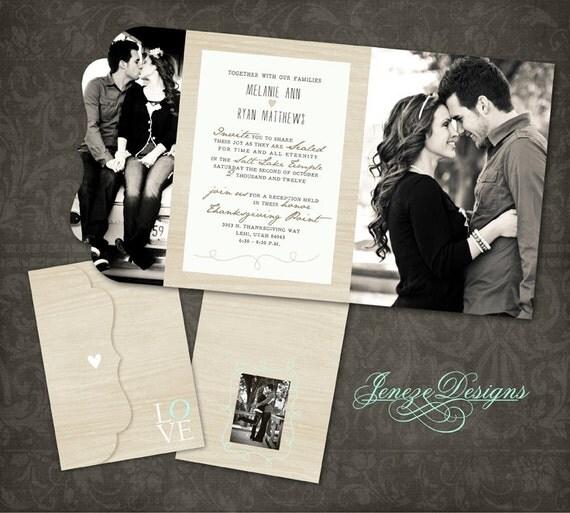 Wedding Invitation Boutique Tri Folded Design By Jeneze On Etsy