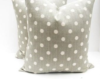 Pillows.Grey.set of two.20x20 inch.Pillow Covers Gray Ikat.Printed fabric front and back.Ikat Gray Pillows
