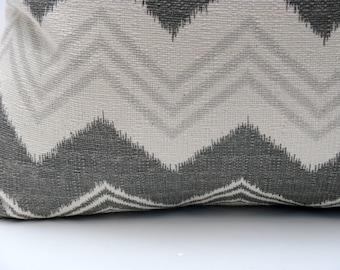 Decorative Throw Pillows Lumbar Pillow Cover Gray Pillow  Chevron Pillow Dark Gray Pillow Lumbar Housewares Cushions Decorative Pillow