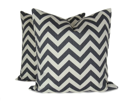 Items similar to Chevron Pillow sets. Throw Pillow covers 20x20. Decorative Pillows Gray and ...