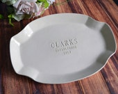 Wedding Gift, Bridal Shower Gift or Housewarming Gift - Personalized Platter - Gift Boxed & Ready To Give