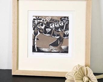 Print Garden - Relief / Letterpress Print