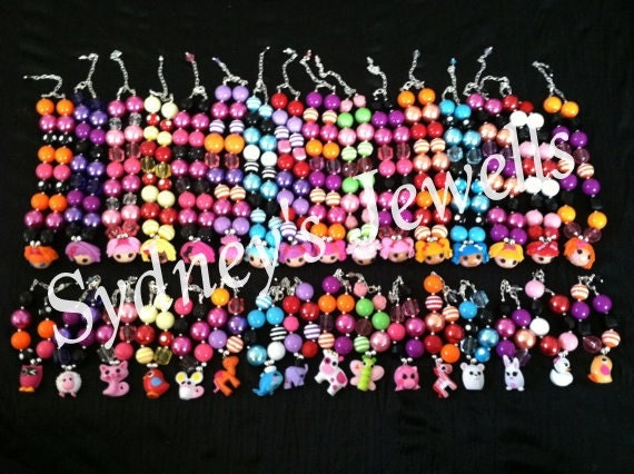 Lalaloopsy Chunky Beaded Necklace and Bracelet Set- You Pick 1 from those available