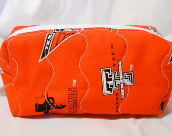 Texas Tech Cosmetic or Gadget Bag