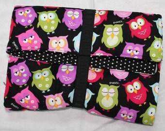 Colorful Owls Diaper Changing Clutch