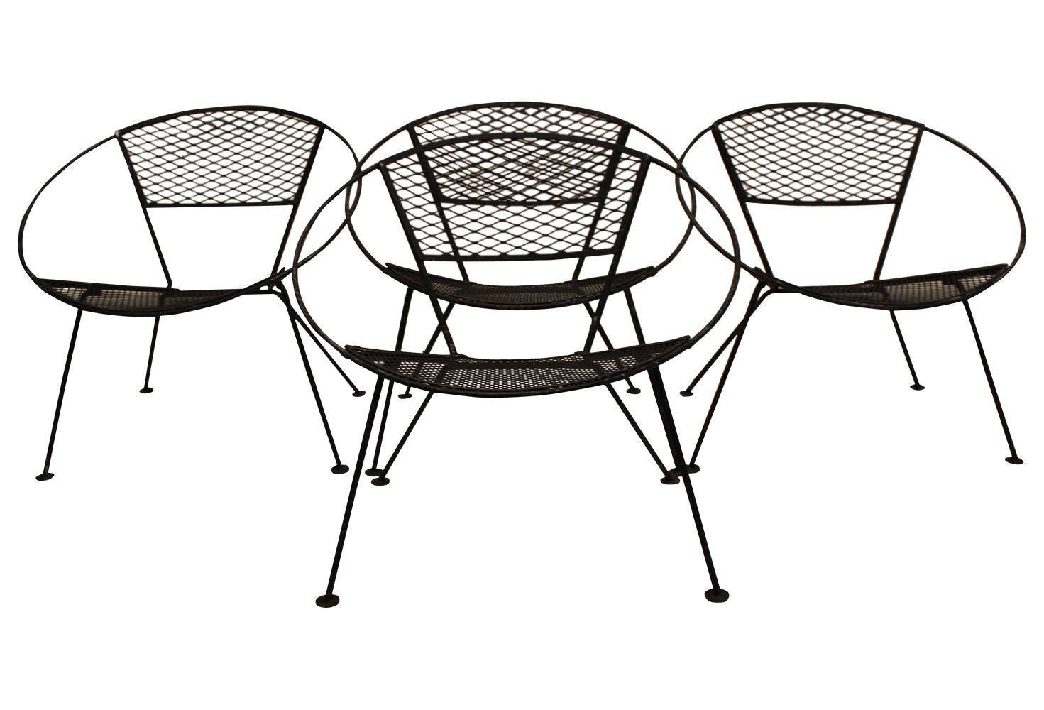Set Of Four Salterini Hoop Patio Chairs