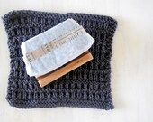 Handmade Soap Gift Set With Hand knit facial cloth and handmade soap dish and cold process soap of your choice