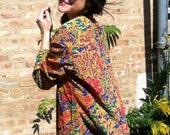 Vintage Colorful Paisley Print Blazer