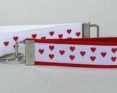 Hearts Key Chain, Key Fob,  Wristlet