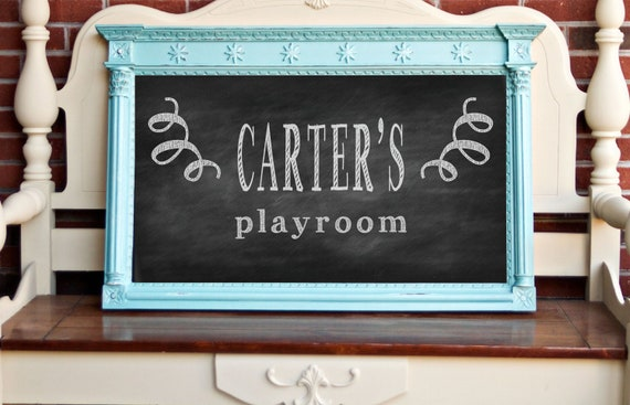 Large Framed Chalkboard - magnetic - Choose your Color & Finish - French Country Wedding Kitchen Menu -  Annie Sloan Chalk Paint