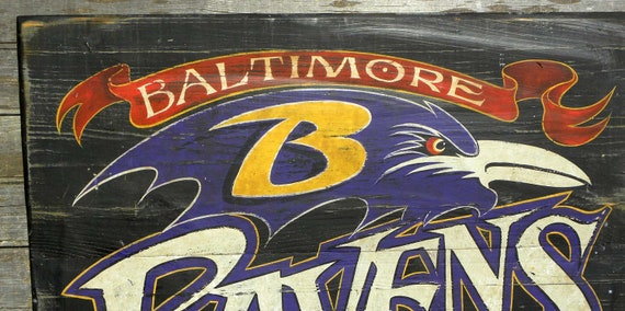 Ravens Sign, football, hand painted , original, wooden sign, sports decor,Baltimore Ravens