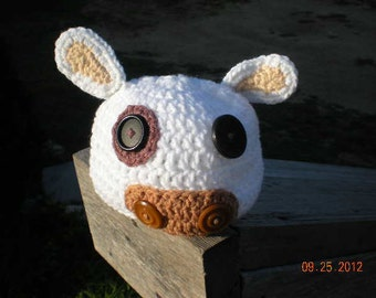 Crochet Cow Face Baby Hat   Animal Baby Hat