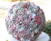 Deposit on Light Pink Wedding Brooch Bouquet - Made to order bridal bouquet - Wedding Bouquet - annasinclair