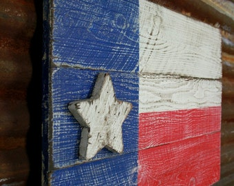 Primitive Texas Flag, Texas Flag, Americana flag, barnwood style flag, distressed flag, old west decor, primitive flag, wall decor